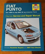 Fiat Punto Haynes Workshop Repair Manual 4066 Petrol Oct 1999- July 2003 (V Reg)