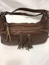 Suzy Smith  tan leather tassel handbag festival summer grab