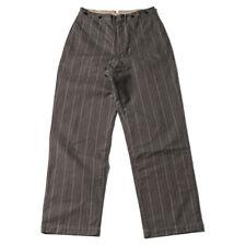Bronson 1920s Pinstripes Working Class Pants Men Vintage Gentlemen Suit Trousers