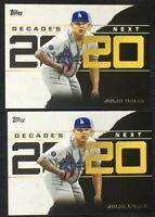 Lot (2) 2020 Topps Decade's Next Julio Urias Dodgers DN-24
