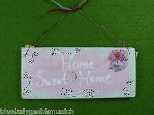 Schild Türschild ❤ HOME SWEET HOME ❤ Holzschild Wooden Sign Plaque