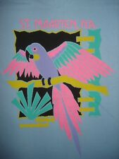 Vintage NOS 1980s SINT MAARTEN TOURIST T SHIRT Parrot NETHERLANDS Beach HANES M