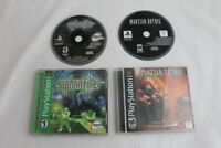 Syphon Filter & Martian Gothic Unification Sony Playstation PS1 Games Complete