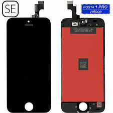 TOUCH SCREEN + LCD DISPLAY RETINA + FRAME PER APPLE iPhone SE VETRO SCHERMO NERO