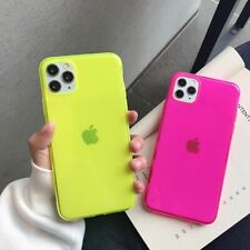 Neon Plain Fashion Blue Soft shell Phone Case Cover For iPhone11ProMax 7 8Plus X