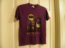 Vintage Batman Returns Boys Size L (16/18) T-shirt Dark Purple 1991 Pre-owned