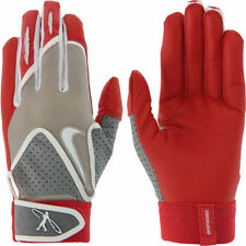 NIKE MVP EDGE Elite Batting Gloves Adult Unisex GB0383 Grey & Red YOUTH MEDIUM