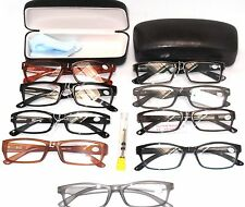 READING EYE GLASSES, CLEARANCE Lot 2 Pack Men Cases, Repair Kit, Gentlemen +1.75