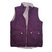 Miami Maroon/Purple Quilted Vest - Women's Medium - Full Zip - Pockets