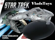 Eaglemoss Diecast Star Trek Voth Research Vesse #62 w/Collector Magazine
