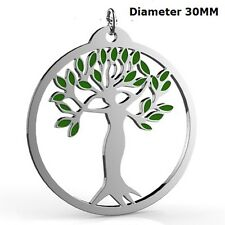 Stainless Steel Tree of Life Pendant Necklace Garden Mother Daughter Christmas