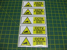 5 SMALL CCTV IN OPERATION IN THIS VEHICLE STICKER 75mmx 25mm