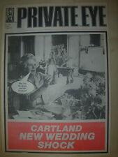 PRIVATE EYE MAGAZINE No 508 JUNE 5 1981 BARBARA CARTLAND NEW WEDDING SHOCK
