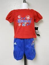 NEW-MENDED Kansas KU Jayhawks Adidas Shirt & Shorts Set INFANT 18 MONTHS