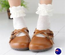 Lady Women Girl Retro White or Black Fancy Ankle Frilly lace Short shoes Socks