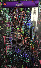5' HOLOGRAPHIC SKELETON CUTOUT Halloween decoration holo skull horror decor 5FT