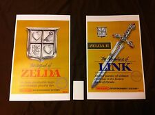Zelda I & II 11x17 Box Art Posters 2-Pack - Nintendo NES Gold 2 Posters Link -