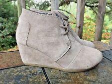 TOMS Desert Sand Brown Wedges Clogs HIGH HEELS Platforms Womens Shoes Sz 5.5