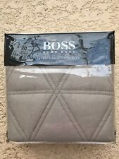 Boss Taupe Textured Cotton Euro European Pillow Sham - New