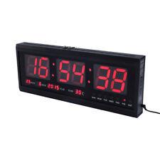 Wanduhr LED Digitaluhr mit Temperatur Datum Kalender Digital Uhr 48x19x5cm GB