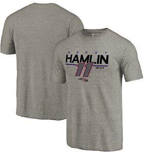 Denny Hamlin Fanatics Branded Stealth Pop Tri-Blend T-Shirt - Ash