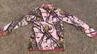 Mossy Oak Girls Fleece Pullover Pink Camouflage Zip Pull Over M 8-10