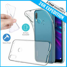 Transparent Cas Gel Clear Case Cover Coque Silicone TPU For Huawei Y5 Y6 Y7 2019
