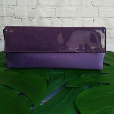 CUTE & CASUAL Estee Lauder Purple Fabric Makeup Bag/Clutch Handbag Snap Closure