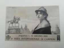 Cartolina Fiera internazionale Campioni Padova 1920 Oreste Da Molin novecento