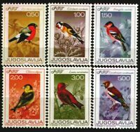 Yugoslavia 1968 ☀ Singing Birds Mi.1274/79 ☀ Mint never hinged set