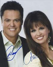 DONNY & MARIE OSMOND SIGNED 8x10 PHOTO - UACC RD SIGNED AUTOGRAPH - THE OSMONDS