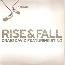 CRAIG DAVID FEAT. STING- RISE AND FALL CD SINGLE PROMO CARDBOARD 2003 EXCELLENT