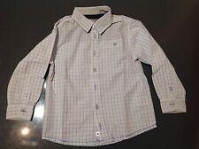 Chemise blanc rayé bleu garçon 3 ans OKAIDI Bon état