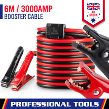 3000AMP Jumper Leads 6M Long Surge Protection Car Boost Cables Alarm Indicator