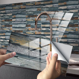 54X Mosaic Sticker Kitchen Tile Stickers Bathroom Self-adhesive Wall Decor Home