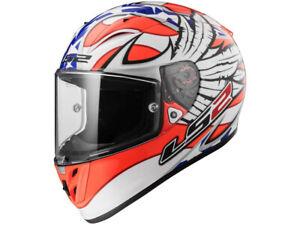 LS2 Integral Helmet FF323 Arrow R Evo Freedom White Orange Blue Motorcycle
