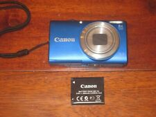 Canon PowerShot A4000 IS 16.0MP Digital Camera - Blue EXCELLENT COND. WORKS