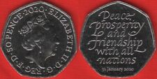 "United Kingdom 50 pence 2020 ""Brexit - Exit from European Union"" UNC"