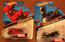 3 NEW Marvel Hot Wheels Cars Spiderman #4 Black Costume #22 Vemon #6 RARE SET