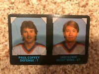 Paul Coffey/Jari Kurri Oilers 1985 7-11 Super Star Sports NHL Credit Card #6