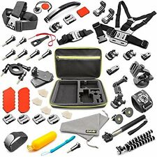 55-in-1 Accessories Case Kit for GoPro HERO5 Frame Black 50+ Items Included NEW