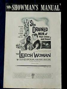 Leech Woman original pressbook 1960 Sci-Fi