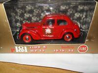 BRUMM R181 FIAT 1100E 35 HP Berlina 1949/1953 1/43rd DIE-CAST Fire service car