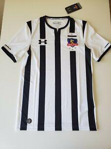 Colo-Colo Es Chile Under Armour Soccer/Futbal Jersey Men Size S Black/White