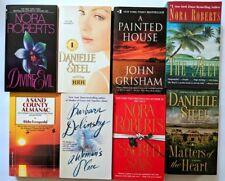 Lot of 8 Paper Back Books - VERY GOOD condition, Nora Roberts, John Grisham