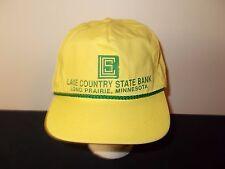 VTG-1980s Lake County State Bank Long Prairie Minnesota rope strapback hat sku25