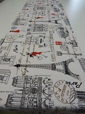Decorative Table Runner - Paris Lady In Red - Eiffel Tower 150cm x 35cm