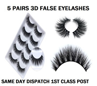 5 Pairs 3D False Eyelashes Mink Wispy Cross Long Thick Soft Fake Eye Lashes