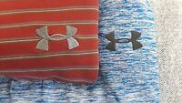 Lot of 2 Under Armour Heatgear Loose Mens Large Polyester Blend Golf Polo Shirts