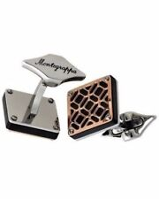 MONTEGRAPPA Filigree Gold Stainles Steel Square Cuff links  IDOMCLRS cufflinks